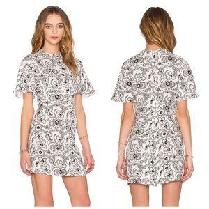 A.C.L Spencer Dress in White & Black Size 8